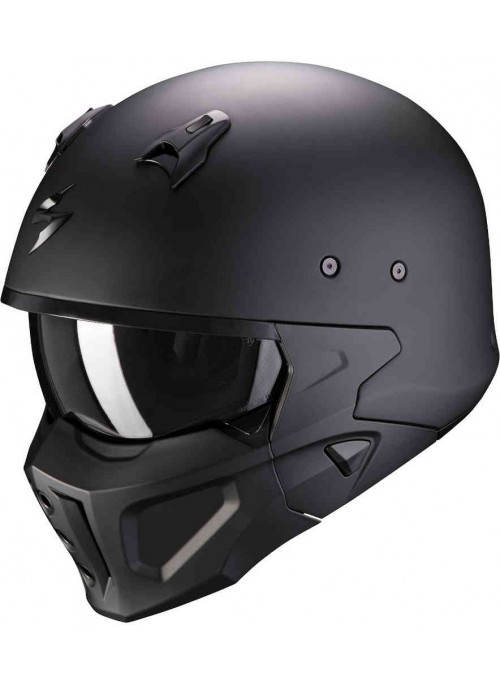 Casco integrale Scorpion Exo Covert-X Fibra TCT Solid Nero Opaco