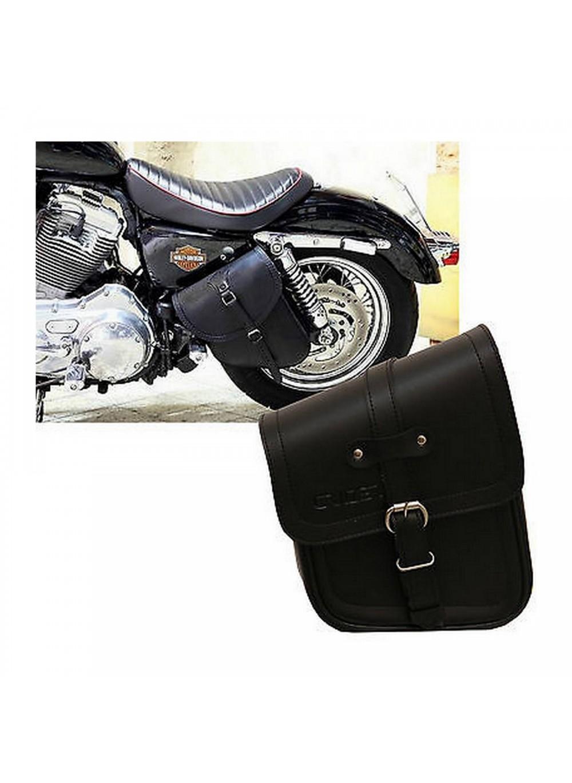 Borse pelle moto guzzi : Borsa per moto custom in pelle pu mono harley davidson