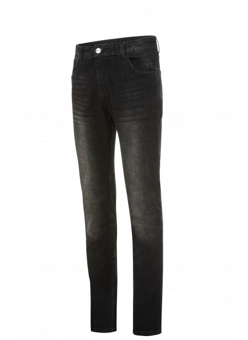 Pantaloni moto Uomo Jeans Denim Nero Protezioni Omologate in ITALIA Aramide