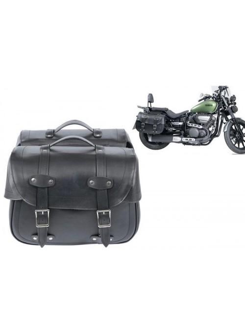 Cruizer - Coppia borse da sella posteriori per moto Harley Custom in pelle