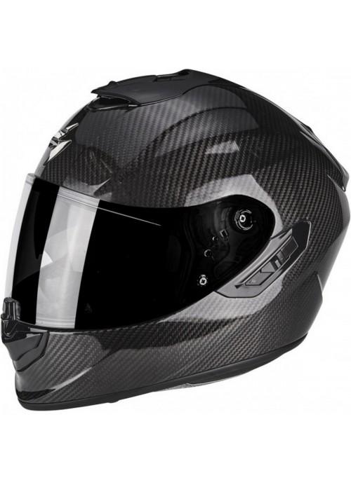 SCORPION Casco Moto Strada Integrale EXO-1400 Air Carbon Solid Nero