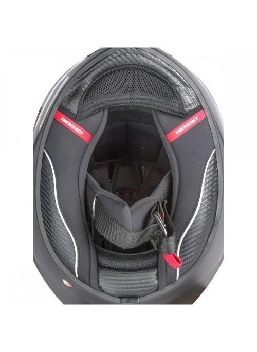 Casco integrale Scorpion EXO-1400 Sylex Nero Opaco Argento