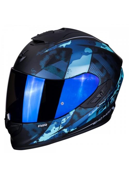 Casco integrale Scorpion EXO-1400 Sylex Nero Opaco Blu