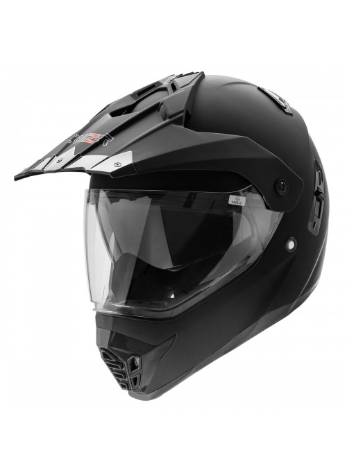 CRUIZER Casco Moto Cross Caschi Fuoristrada Enduro Nero Opaco Doppia Visiera