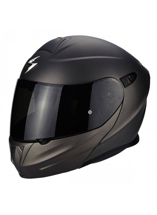 Casco Modulare Scorpion Exo 920 Solid Nero Antracite
