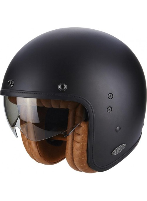 SCORPION Casco Moto Jet Custom in Fibra Scorpion BELFAST Luxe Nero Opaco