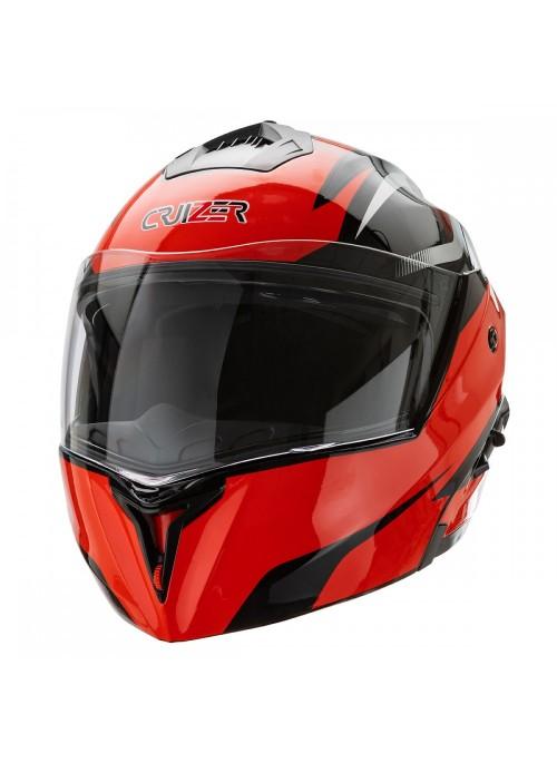 Cruizer casco integrale modulare Nero Rosso